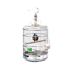 QQW Jaula de pájaros con Mascota de Hierro Forjado Jaula de ...