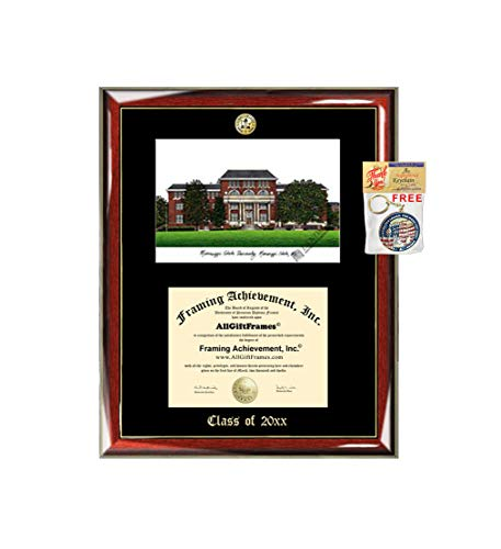 Mississippi State University MSU Emboss Graduation Award Diploma Lithograph Plaque Document Degree Framing Logo Seal Gift Custom