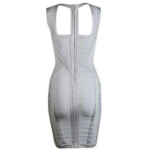 Violett Damen Kleid HLBCBG Grau Blau Violett 4qIwSf