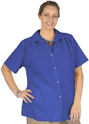 A Personal Touch Women's Plus Size Royal Gauze Short Sleeve Tunic