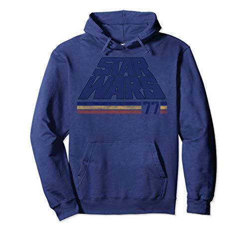 Star Wars Classic Retro Slanted Logo Striped '77 Hoodie