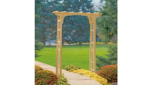 Suncast Premium Cedar Arbor for Garden with Wooden Arch and Trellis