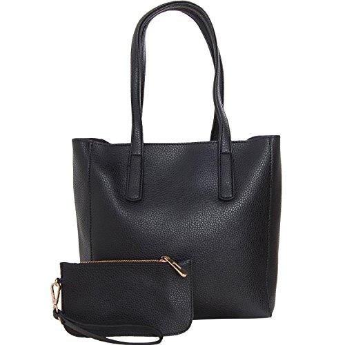 Leather Chic Handbag - 8