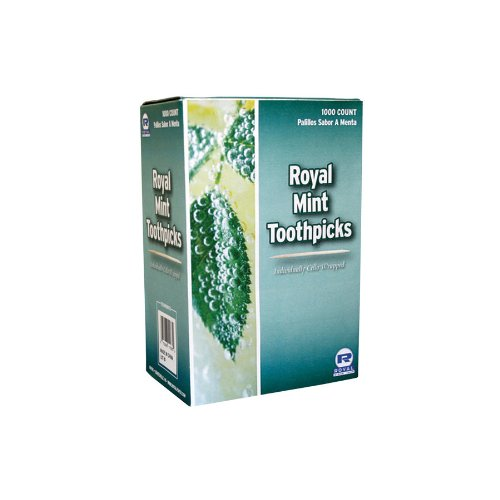 Pack of 1000 Mint Toothpick Individually Cello Wrapped