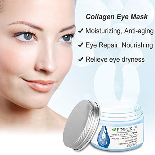 41SeTLMWE7L - Eye Treatment Masks,Under Eye Patches, Anti-Aging Mask, with Hyaluronic Acid, Hydrogel, Deep Moisturizing Improves elasticity, Treatment Pads for Dark Circles, Wrinkles, Eye Bag Removal, 50 PCS