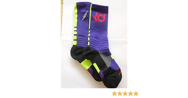 Amazon.com : Nike KD Hyperlite Basketball Socks (Court Purple/Volt/Light Crimson) : Sports & Outdoors