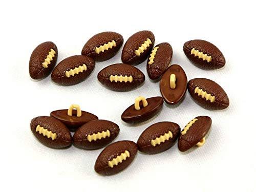 Dill American Football Shape Novelty Buttons - per Pack of 3]()