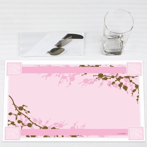 Cherry Blossom - Party Placemats - Set of 12 (Cherry Placemat)