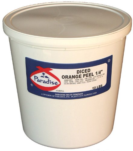 UPC 070327614037, Paradise Diced Orange Peel 1/4 Inch, 10 Pound Tub