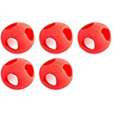 5 x Quantity of Helicopter Quadcopter Airplane Boat Car Controller Mushroom Antenna Protective Jacket Red KingKong Universal Version 5.8Ghz Protector