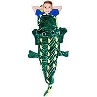 Cozy Crocodile Blanket For Children, Pocket Style Kids...
