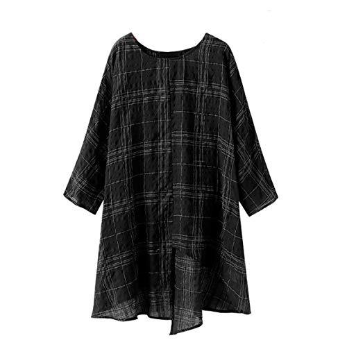 Manches dcontracts Black Shirts Longues T pOwz4Eqp