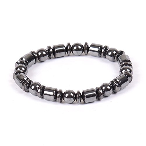 1 x Weight Loss Magnetic Therapy Round Stone Bracelet Health Care Black