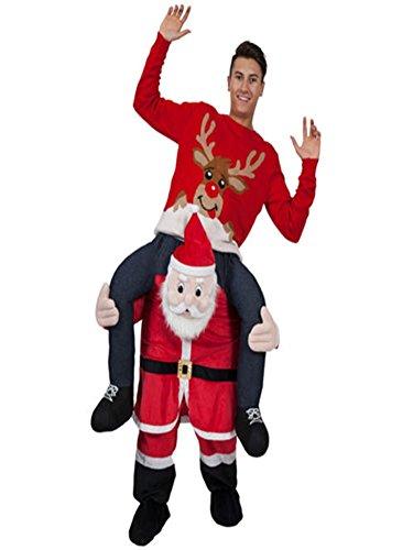 Halloween Carry Mascot Me Shoulder Adult Christmas Santa Claus Ride On Costume Unisex Fancy Dress -