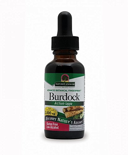 Nature's Answer Burdock Root with Organic Alcohol, 1-Fluid - Alcohol Root Burdock