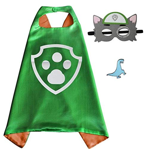 Superhero Cape and Mask Costume for Kids with Pin (Rocky)]()