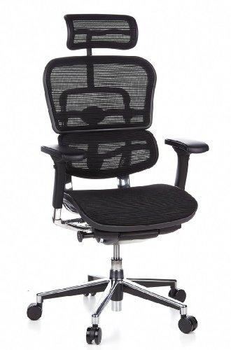Ergohuman Bürostuhl mit Netz-Stoff, schwarz - 18
