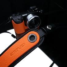 Gariz Genuine Leather XS-CHLSNOR Camera Neck Strap for Sony RX1 NEX-7 NEX-6 NEX-5R NEX-5N RX100 LX7 Leica X1 X2 Fujifilm X-E1 X100 X10 X-Pro1 Olympus EM-5 OM-D, Orange