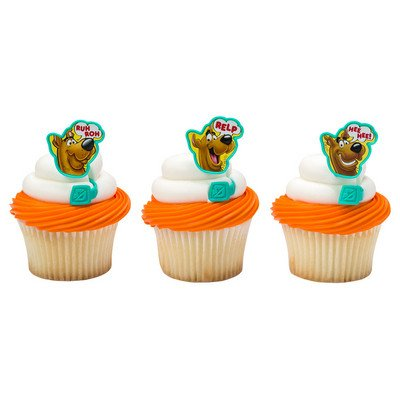 Scooby Doo Cupcake Rings - 24 ct -