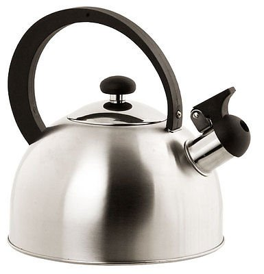 Contemporary Construction Design Easy Open Stainless Steel Whistling Silver Tea Kettle With Heat Resistant Handle