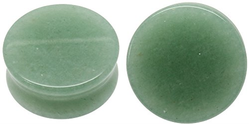 Green Jade Saddle (Green Jade Organic Stone Ear Gauges Solid Plugs Sold in Pairs (12mm- 1/2 inch))