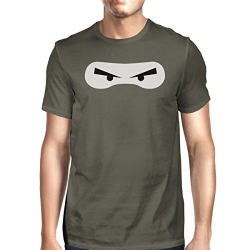 Bad Ninja Turtle Costume (365 Printing Ninja Eyes Halloween Costume Tshirt Mens Charcoal Grey Tee Shirt)