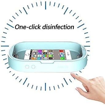 Tragbarer Handy-Sterilisator Aromatherapie UV-Sterilisationsbox UVC-Licht F/ür Spielzeug Handy-UV-Desinfektionsmittel Blau Blau