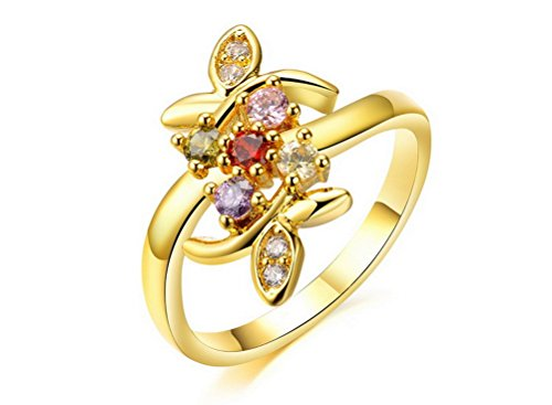 superhai-pierced-shining-personality-leaves-colorful-zircon-plated-18k-gold-ring
