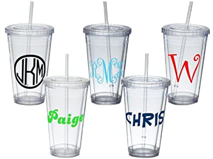 Personalized Insulated Tumbler With Straw And Lid
