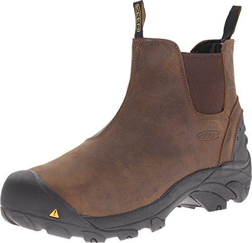 KEEN Utility Men's Detroit Slip-On Work Boot, Cascade Brown,