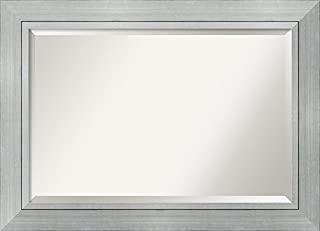 Amanti Art Framed Romano Silver Solid Wood Wall Mirrors, Glass Size 36x24, (B00T90ULXI) | Amazon price tracker / tracking, Amazon price history charts, Amazon price watches, Amazon price drop alerts