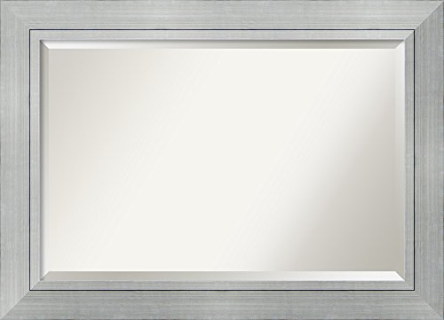 Wall Mirror Extra Large, Romano Silver Wood: Outer Size 43 x - Mirror Large Silver