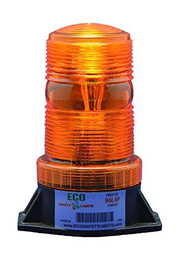 B6L4PT AMBER 12-80V DC 3W LED 1/2 NPT PIPE MOUNT EMERGENCY WARNING LIGHT BEACON STROBE EFFECT 12V 24V 36V 48V 64V ()