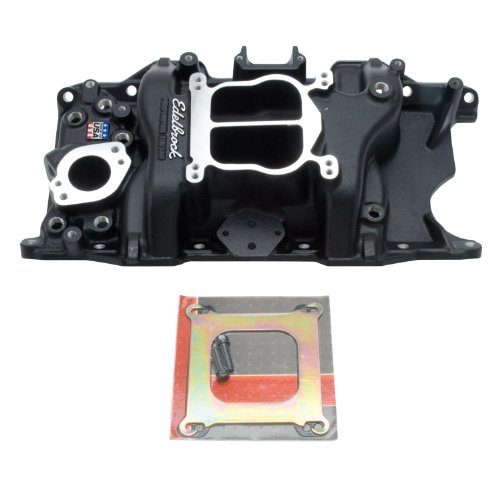 Edelbrock 21763 Performer 318/360 Intake Manifold; Black; Non-EGR; Idle-5500rpm; For 4 bbl Carbs; ()