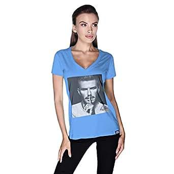 Creo David Beckham T-Shirt For Women - S, Blue