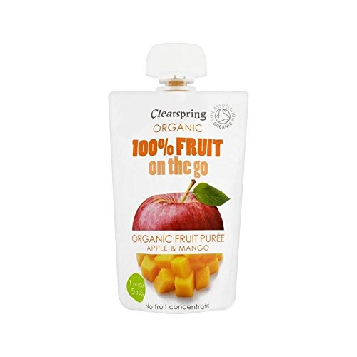 Clearspring Organic Fruit Puree Apple & Mango 100g - Pack of 6