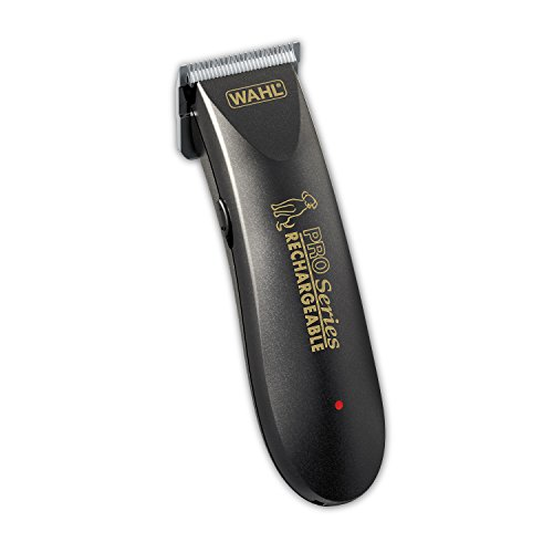 (Wahl Deluxe Pro Series Rechargeable Cordless Dog Clippers, Low Noise/Quiet Dog Grooming Kits for Pet Hair Cut for Small/Large Dogs, Thick Coats, Cats, Heavy Duty, The Brand Used By Professionals. #9591-100)
