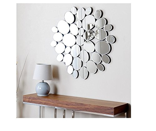 ABBYSON LIVING Glacier Decorative Silver Wall Mirror for sale  Delivered anywhere in USA