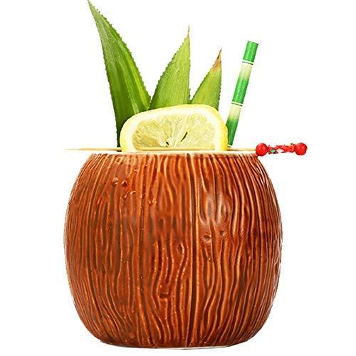 Ceramic Mug Coconut Shape Mug For Gifts Cups And Mugs Collections New Year Decoration Tiki Mug (Coconut cup)]()