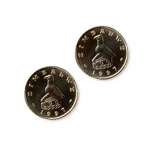 Zimbabwe Coin Cufflinks