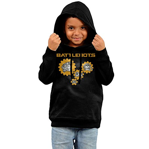 FGFD Kids Robots Battle Unisex Hoodie Black Size 4 Toddler (Tombstone Funny Quotes)
