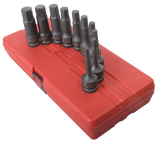 (Sunex 2638 1/2-Inch Drive SAE Impact Hex Driver Set, 10 Piece by Sunex International)
