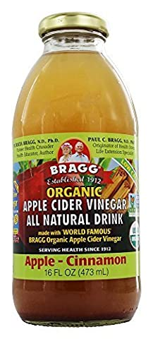 Bragg Bev Apple Cider Apple & Cinnamon 16 oz (Pack of (Mela Biologica Sidro)