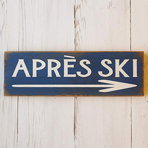 Rustic Blue Cabin Apres Ski Winter Home Decor Wood for sale  Delivered anywhere in Canada