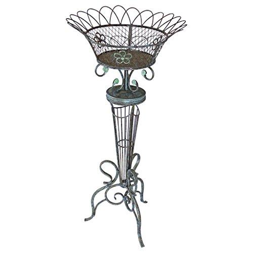 - Design Toscano Basket Weave Metal Fern Planter