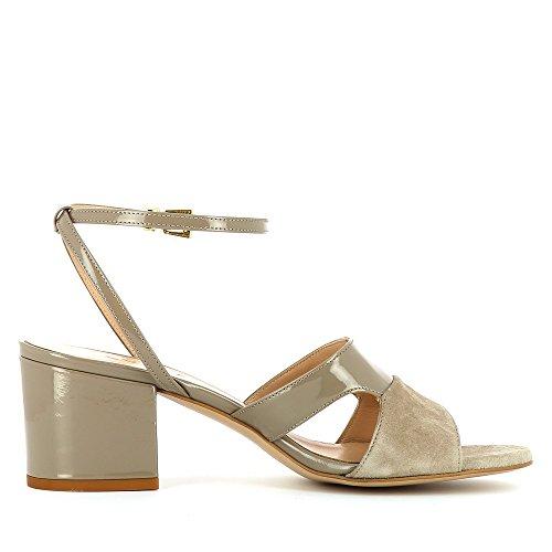 Evita Shoes Mariella Damen Sandalette Kombi Leder Fango
