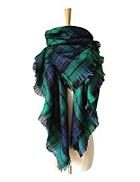 Large Tartan Fashion Women Scarf Lovely Best Gift Scarf Wrap Shawl