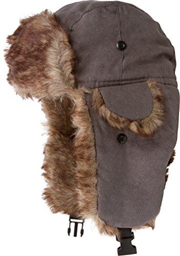 Morgan Mens Hat - Sakkas 20C Morgan Unisex Faux Fur Trooper Hat - Grey