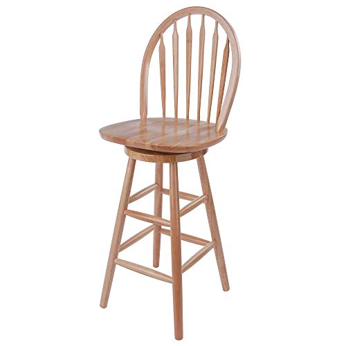 Wagner Arrow-Back Counter Stool with Swivel Seat (Swivel Back Stool With)