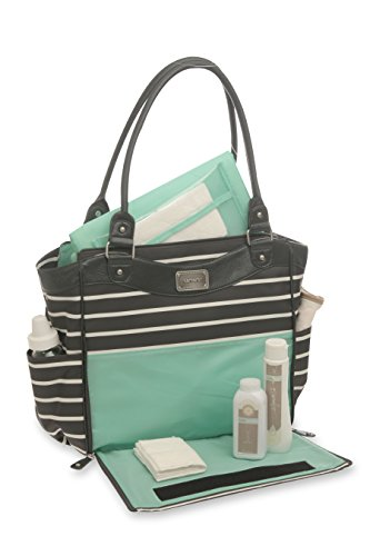 Carter's Zip Fashion Diaper Bag, Front Stripe by Carter's